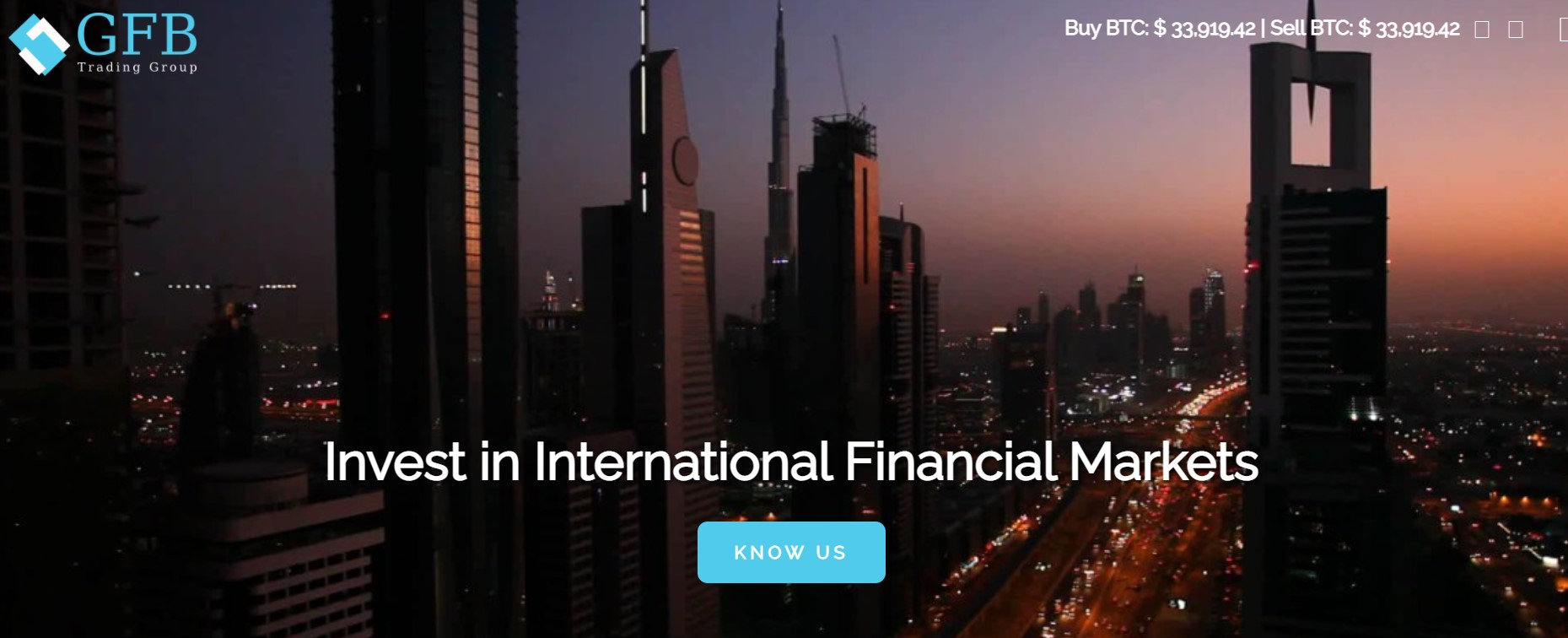 GFB Trading Group website