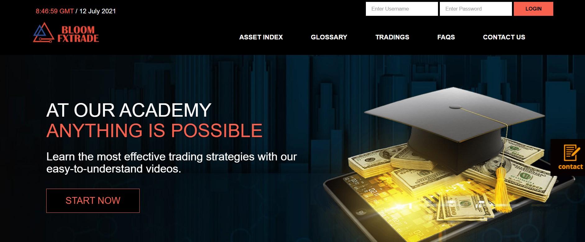 BloomFXTrade website