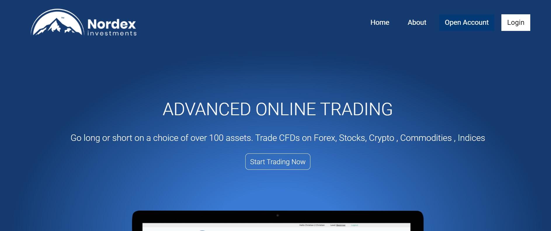 Nordex Invest website