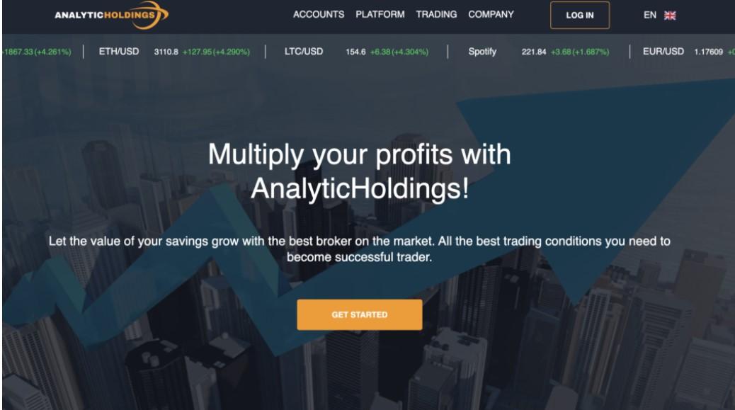 Analytic Holdings website
