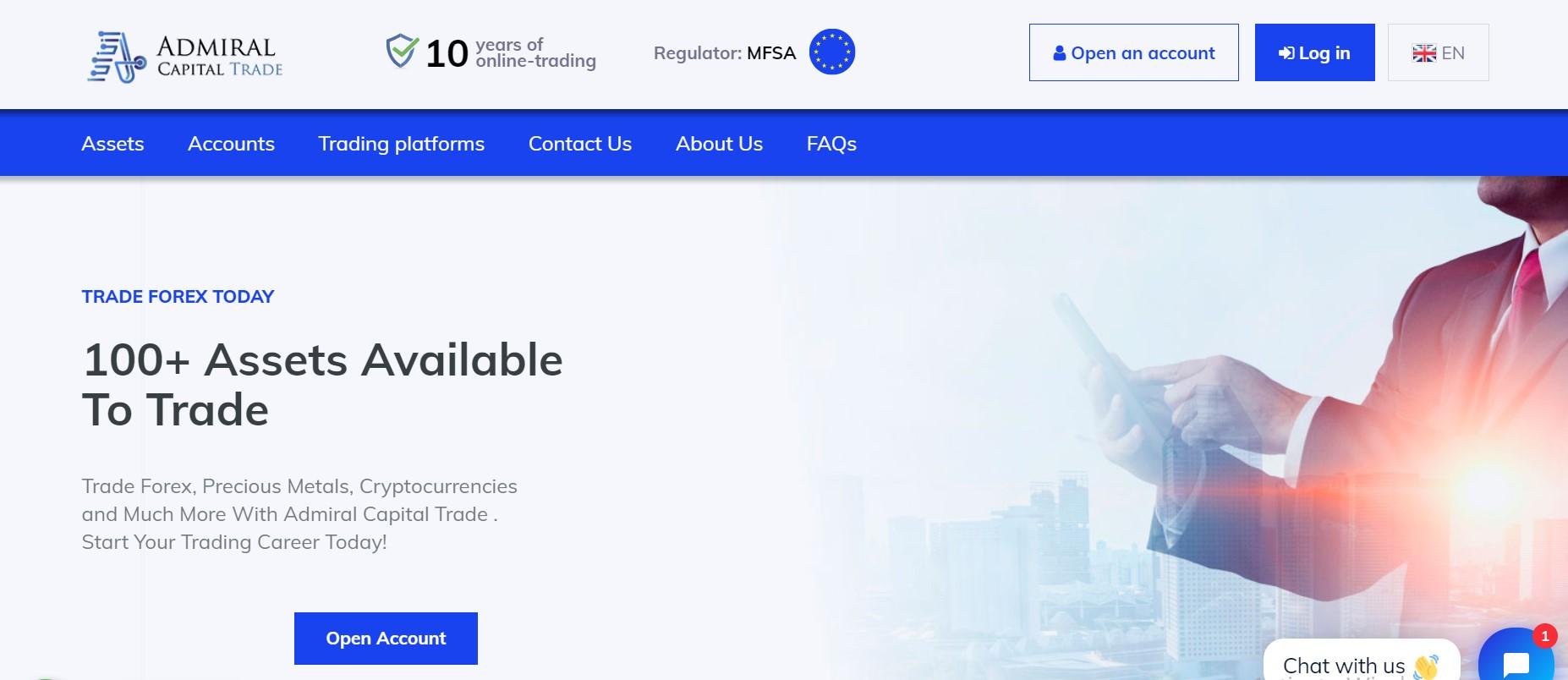 Admiral Capital Trade website