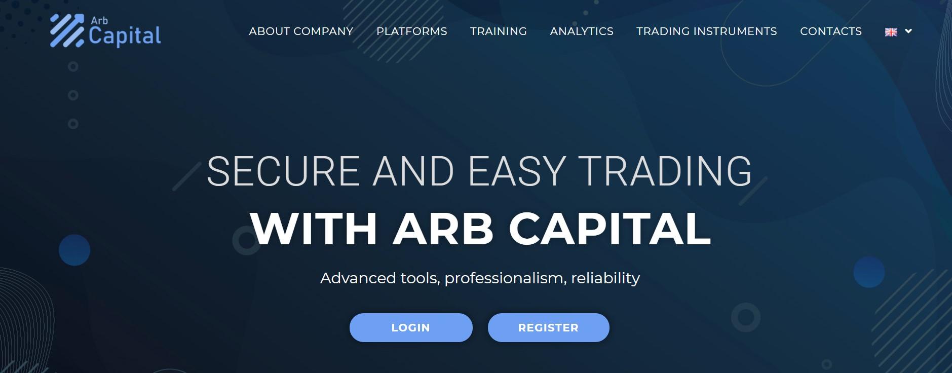 Arb Capital website