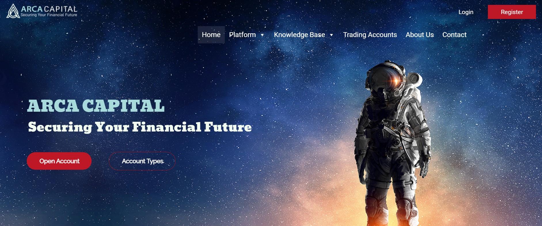 Arca Capital website