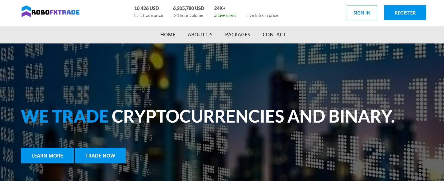 RoboFx Trade website
