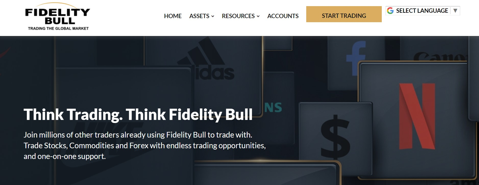 Fidelity Bull website