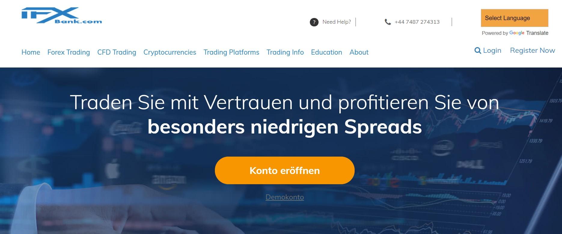IFXbank website