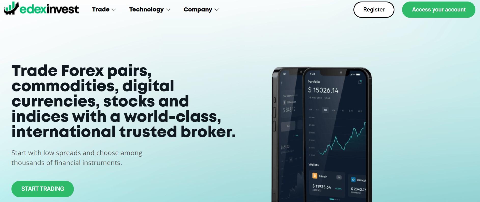 Edex Invest website