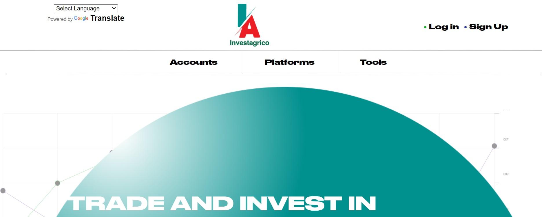 Investagrico website